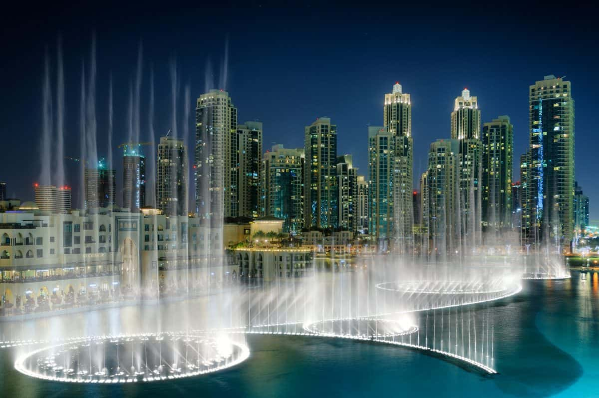 Dubai Fountain in Downtown Dubai