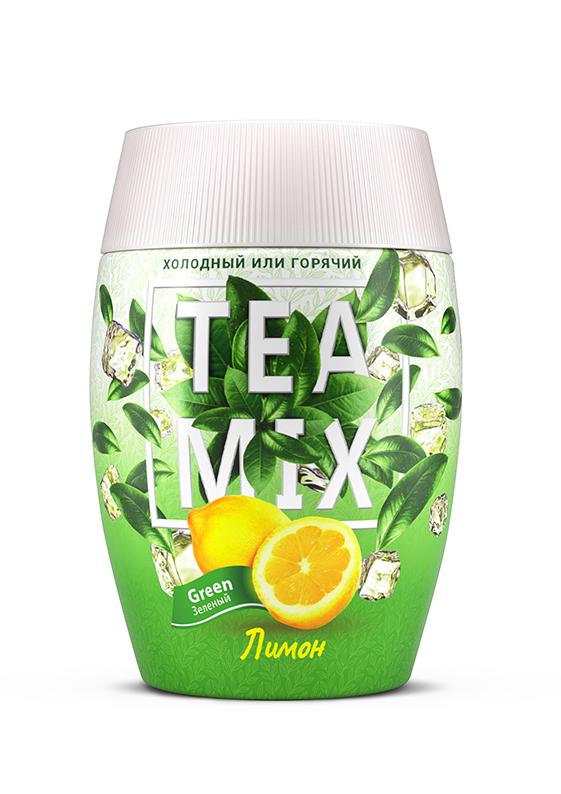 Картинка Напиток гранулированный TEAMIX зеленый чай с лимоном