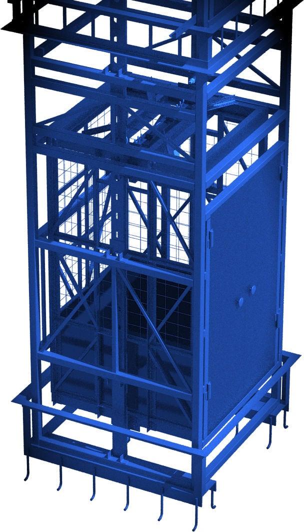 подъёмник в готовую шахту