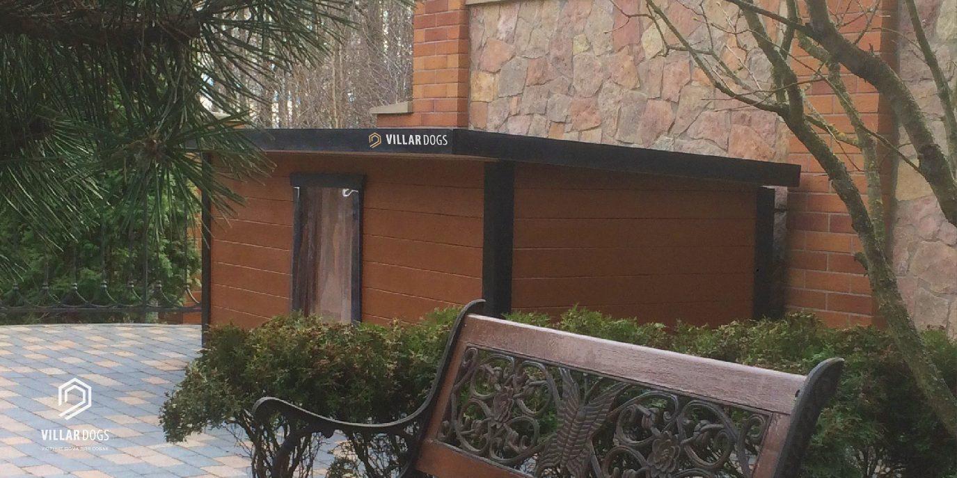 Утепленная будка для двух собак с тамбуром | Фотографии | VillarDogs