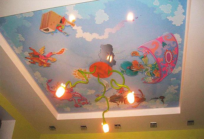 Красивые потолки для девочек
