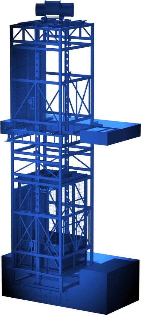 шахтный грузовой подъёмник