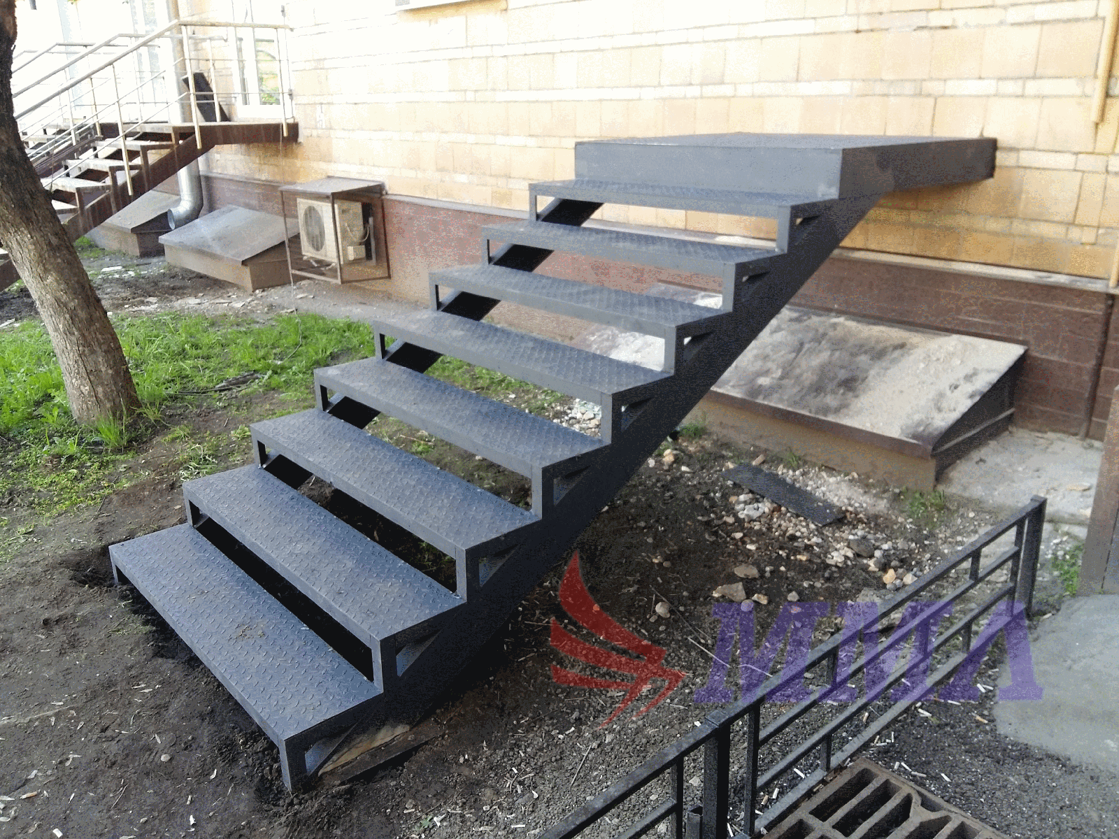 уличная, лестница, металл, металлокаркас,