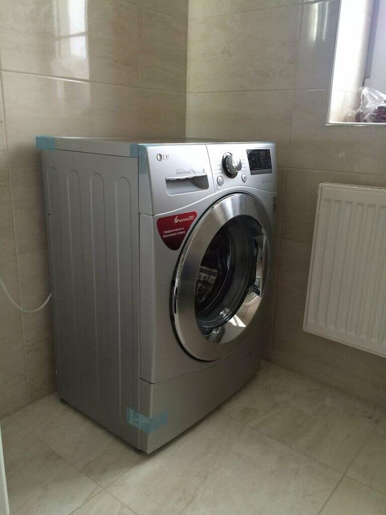 установка стиралки