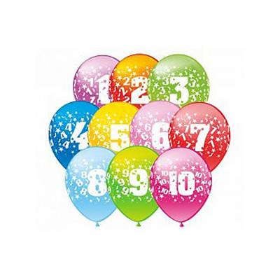 Гелиевые шарики С Днем Рождения цифры
