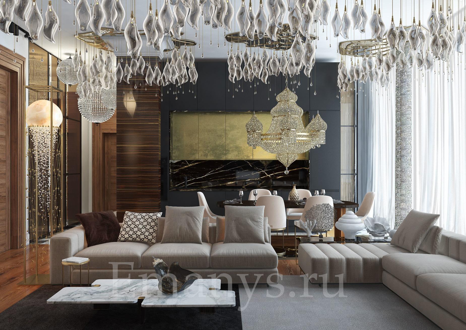 Дизайн интерьера гостинная Emanys