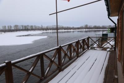 Вид на реку Енисей из коттеджа