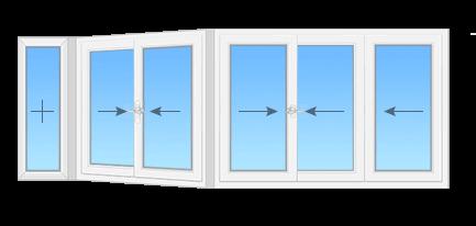 полутеплое остекление балкона п44 сапожок