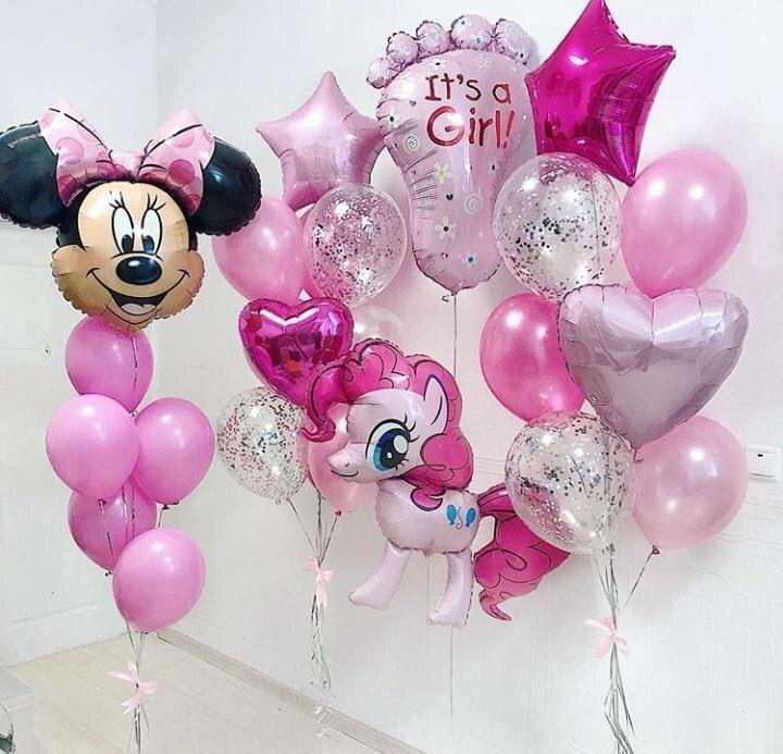 шарики для девочке на выписку