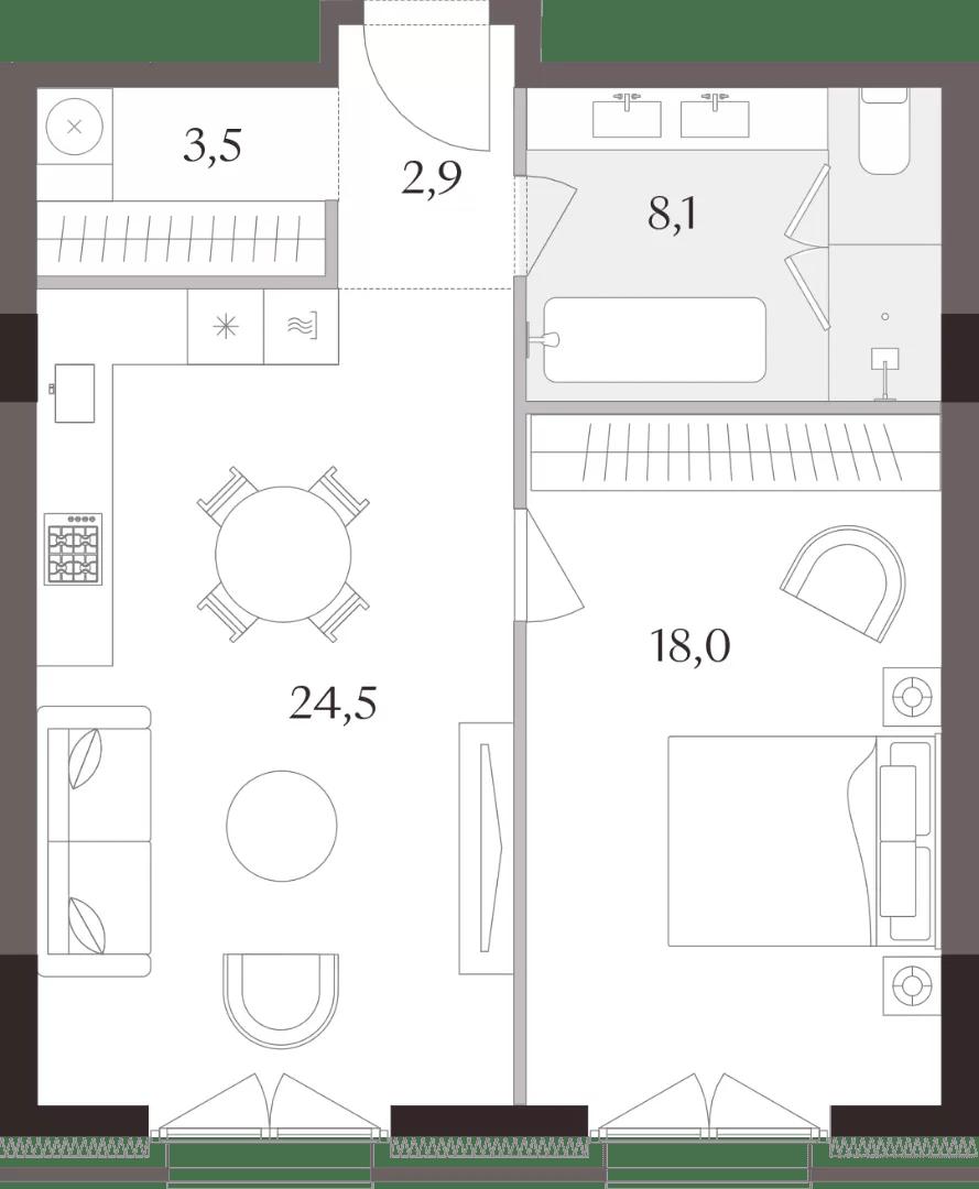 Планировки 1-комнатных квартир