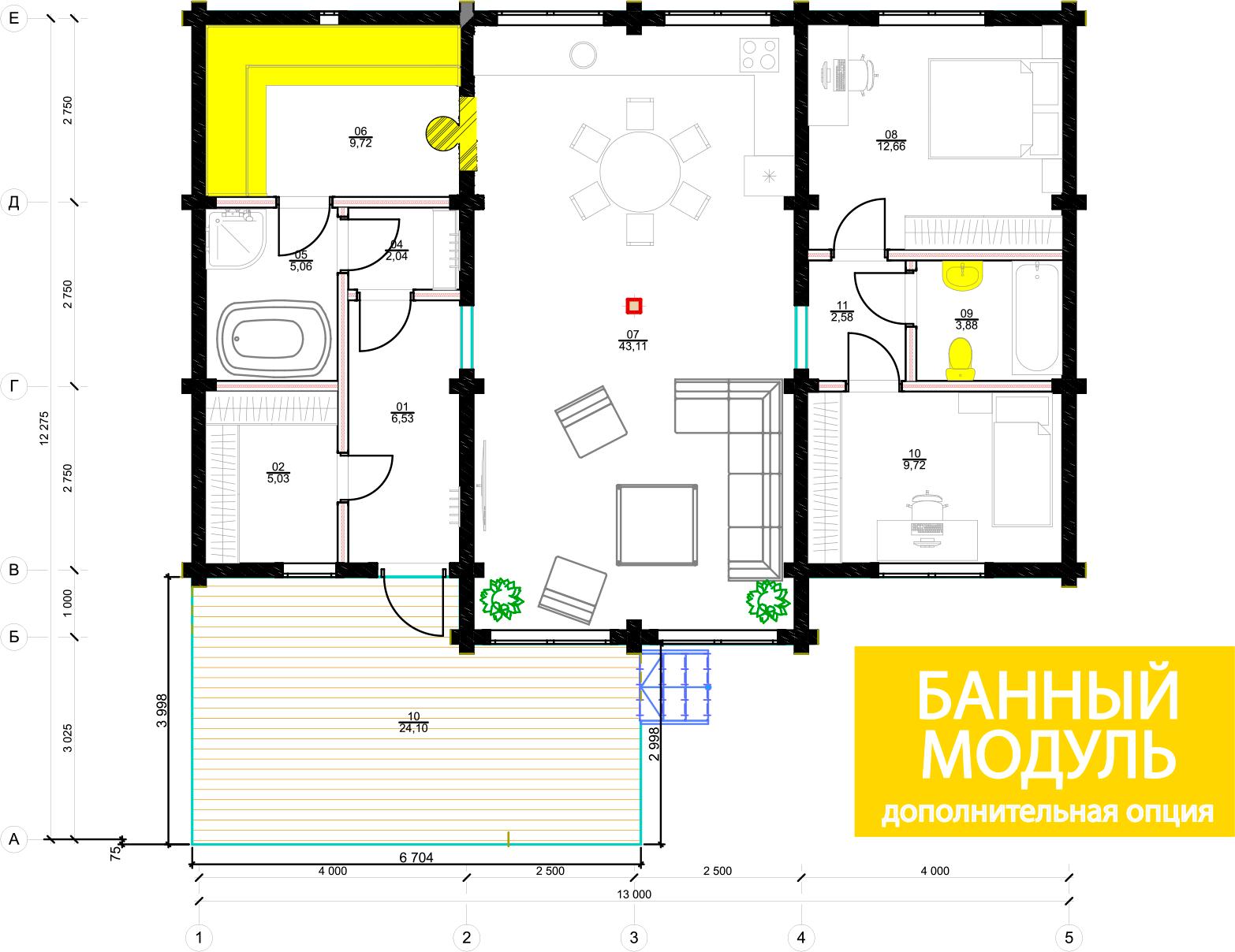План первого этажа Bonn 1.1 (Дом Бонн) 2