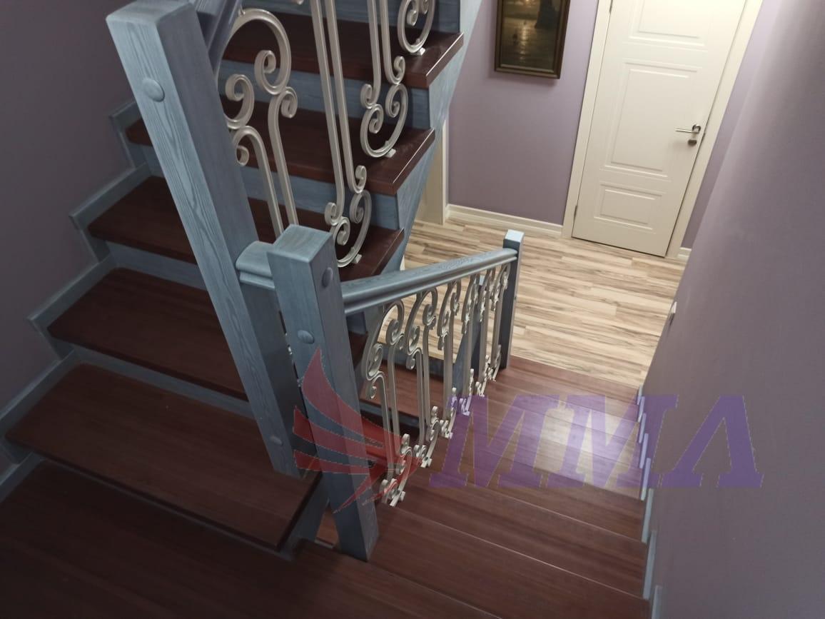 лестница, красивая, перила,