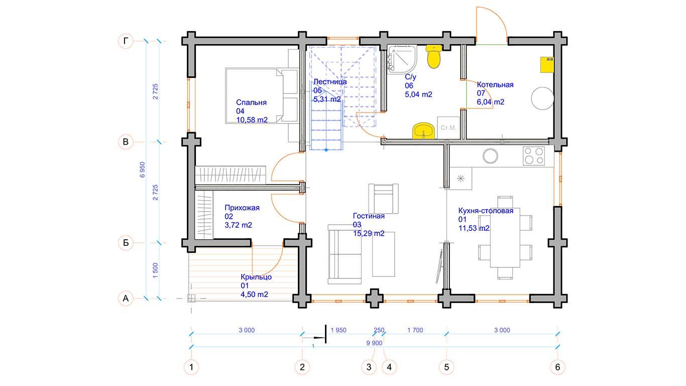 План первого этажа Osterburg (Дом Остербург)