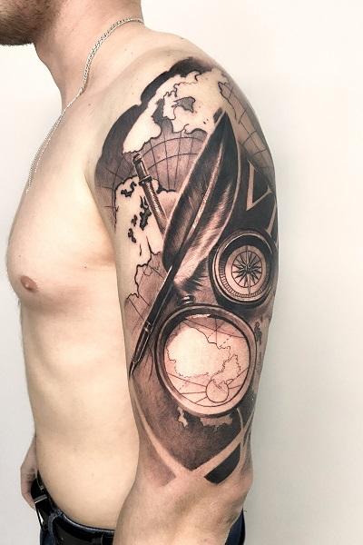 татуировка сноуборд в Новосибирске