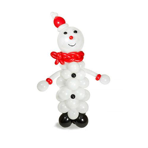 Фигура из шаров снеговик