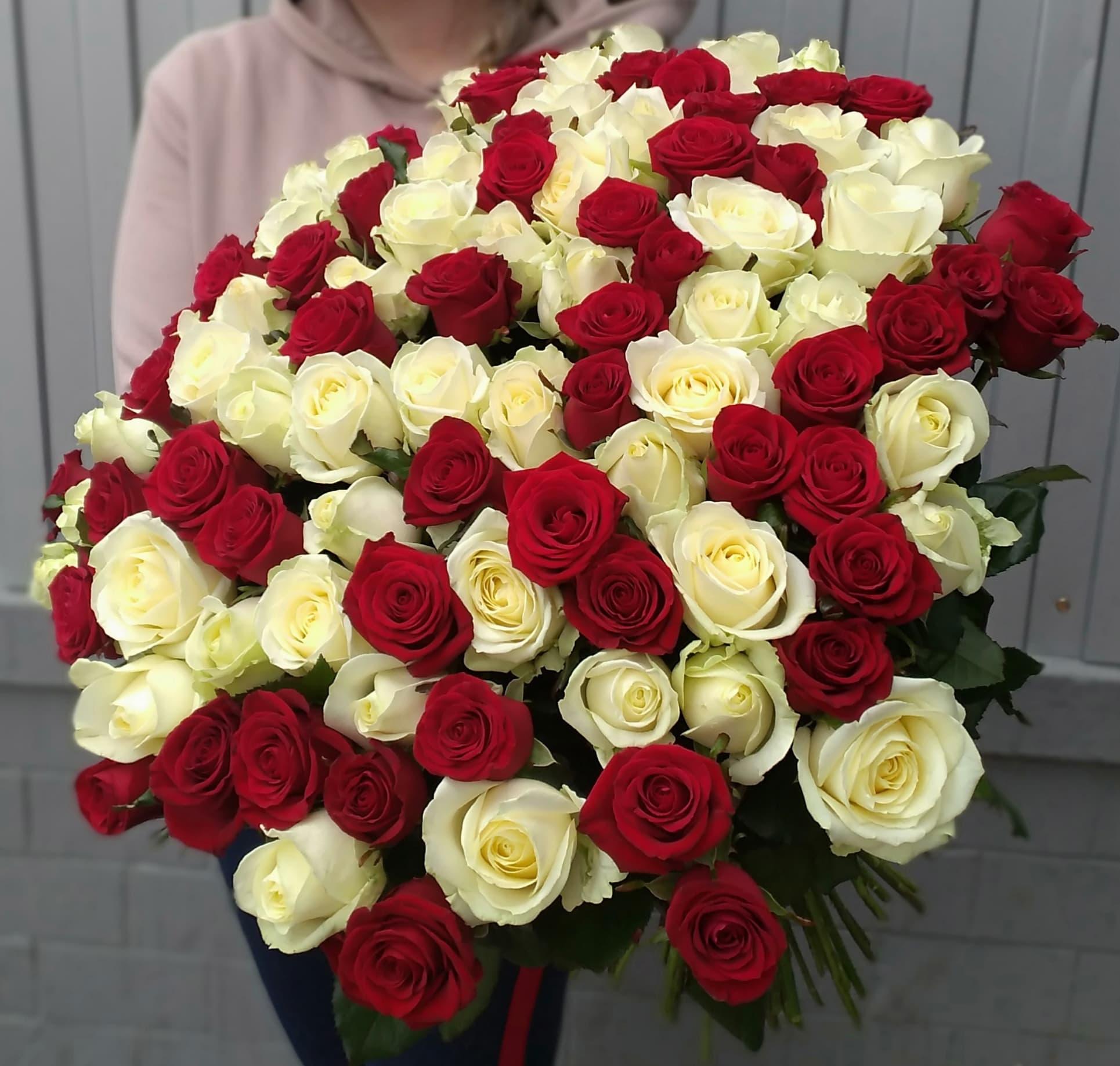 101 роза Аваланж и Ред Наоми