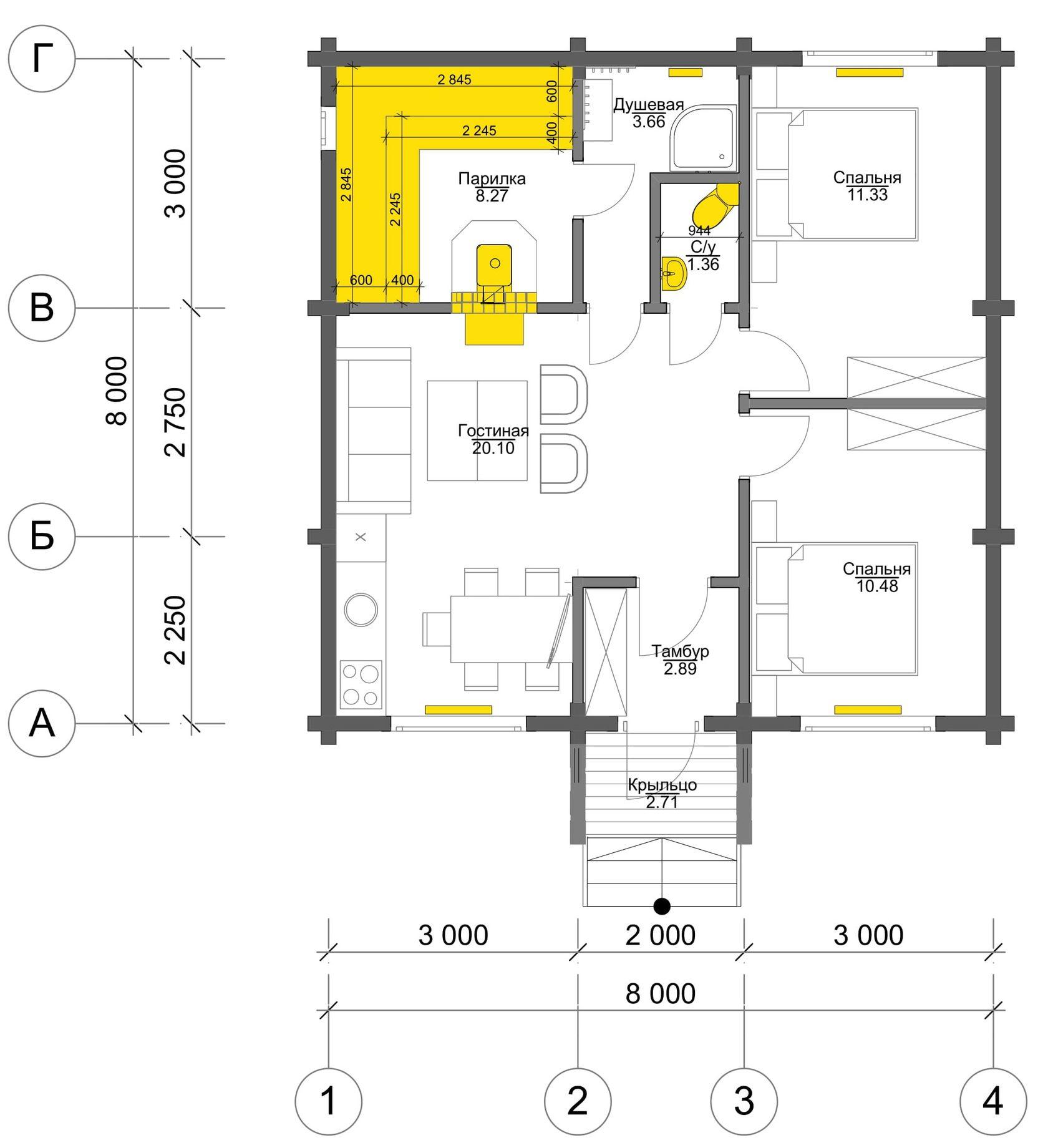 План первого этажа Bremen BAN (Баня Бремен)