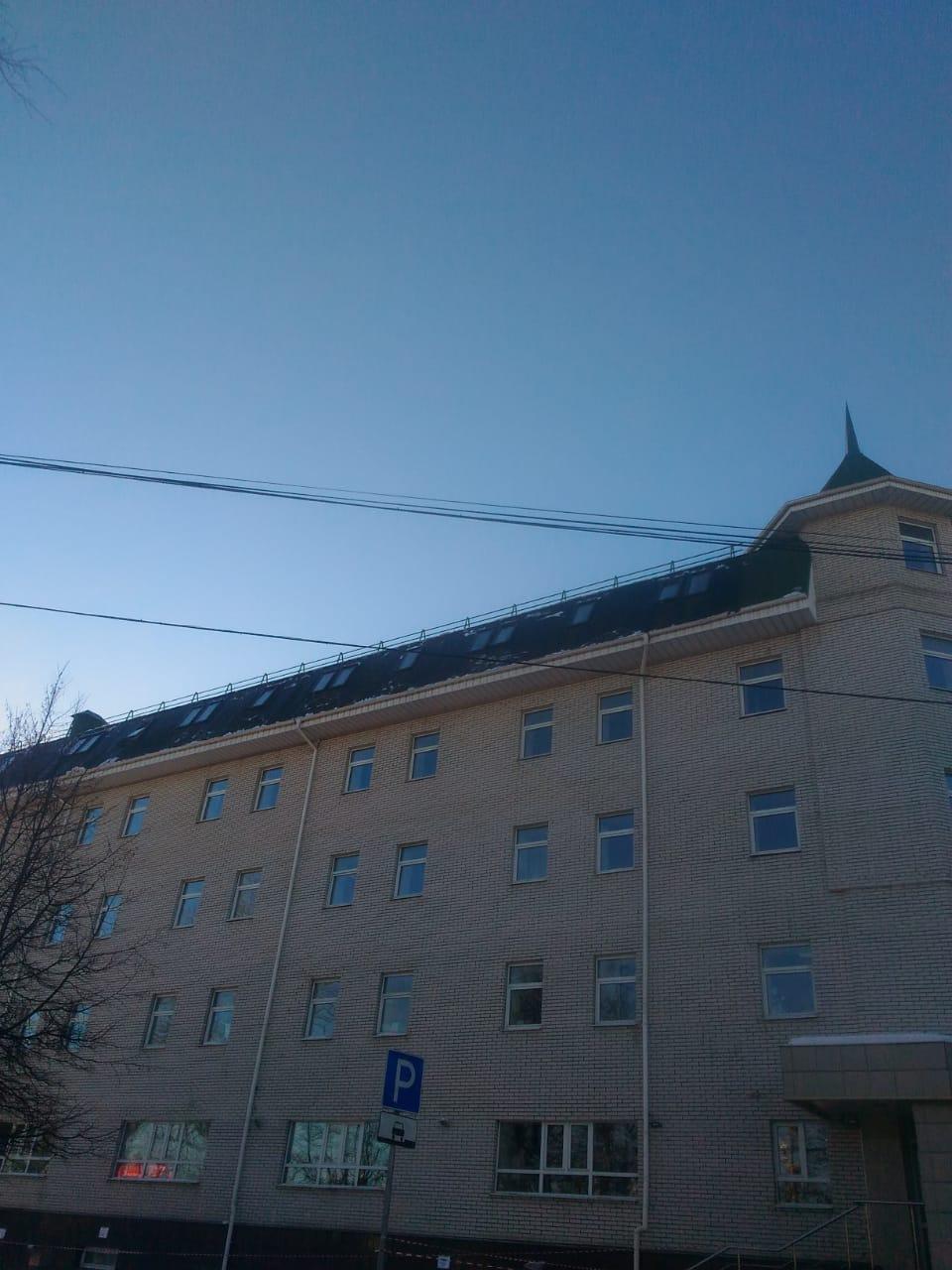 услуги уборки снега с крыши