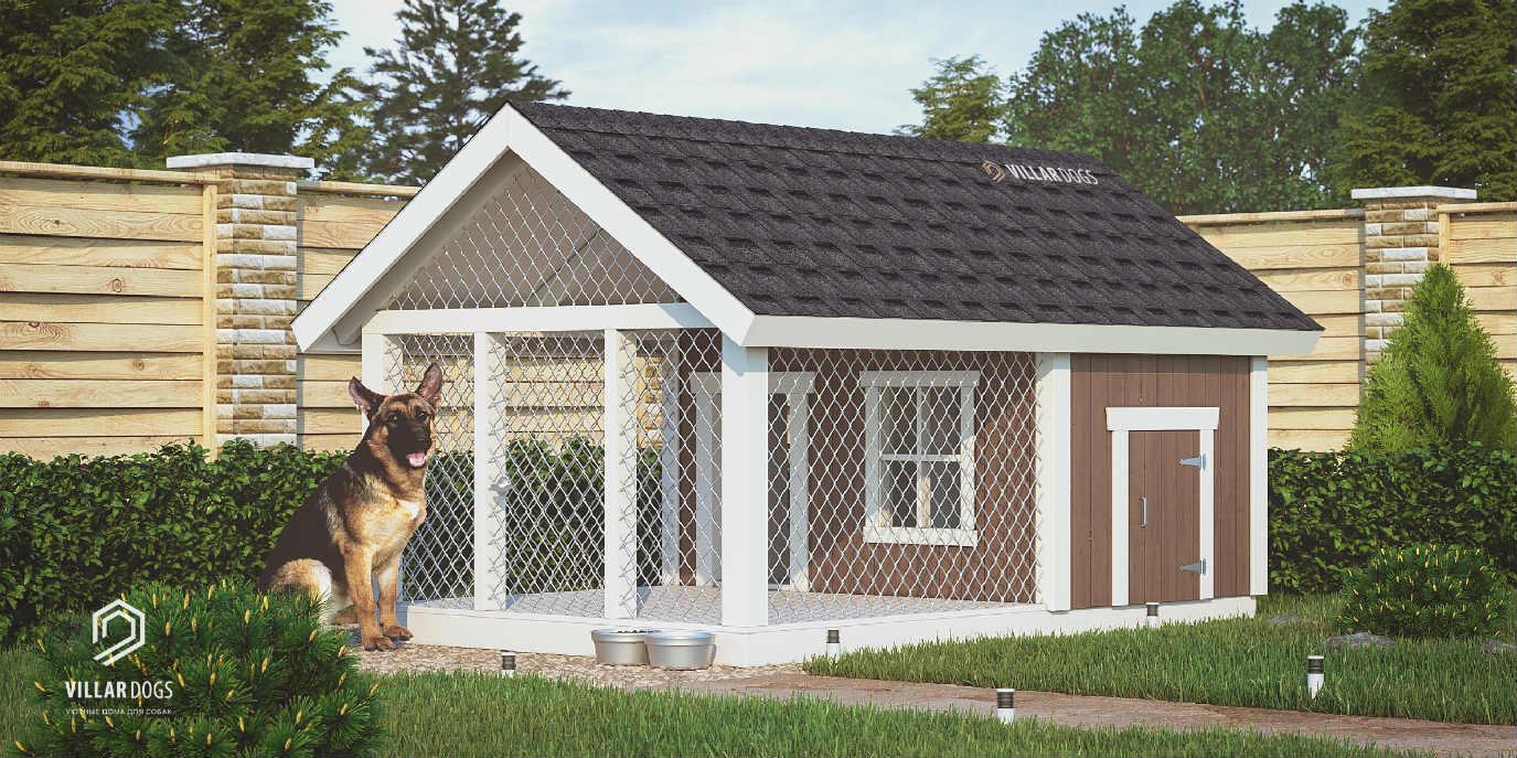 Бюджетная будка-вольер для собаки | Фотографии | VillarDogs