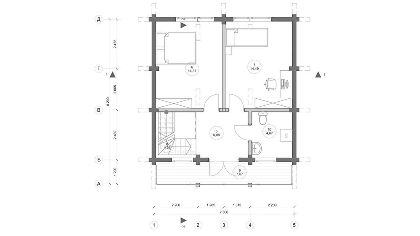 План второго этажа Rhein (Дом Рейн)