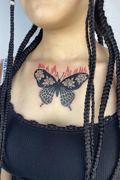 татуировка фотография эскиз мужская на ноге джокер