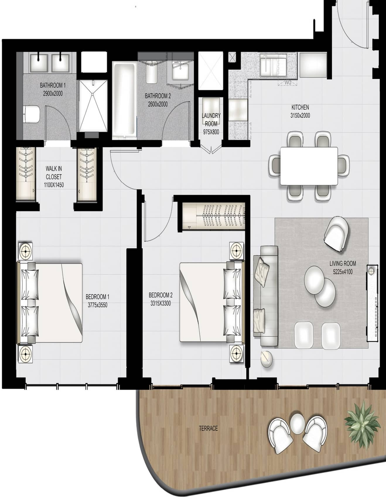Emaar Beachfront South Beach Apartments Floor Plans