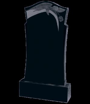 """Памятник из гранита формы """"купол"""" с тюльпанами сверху"""