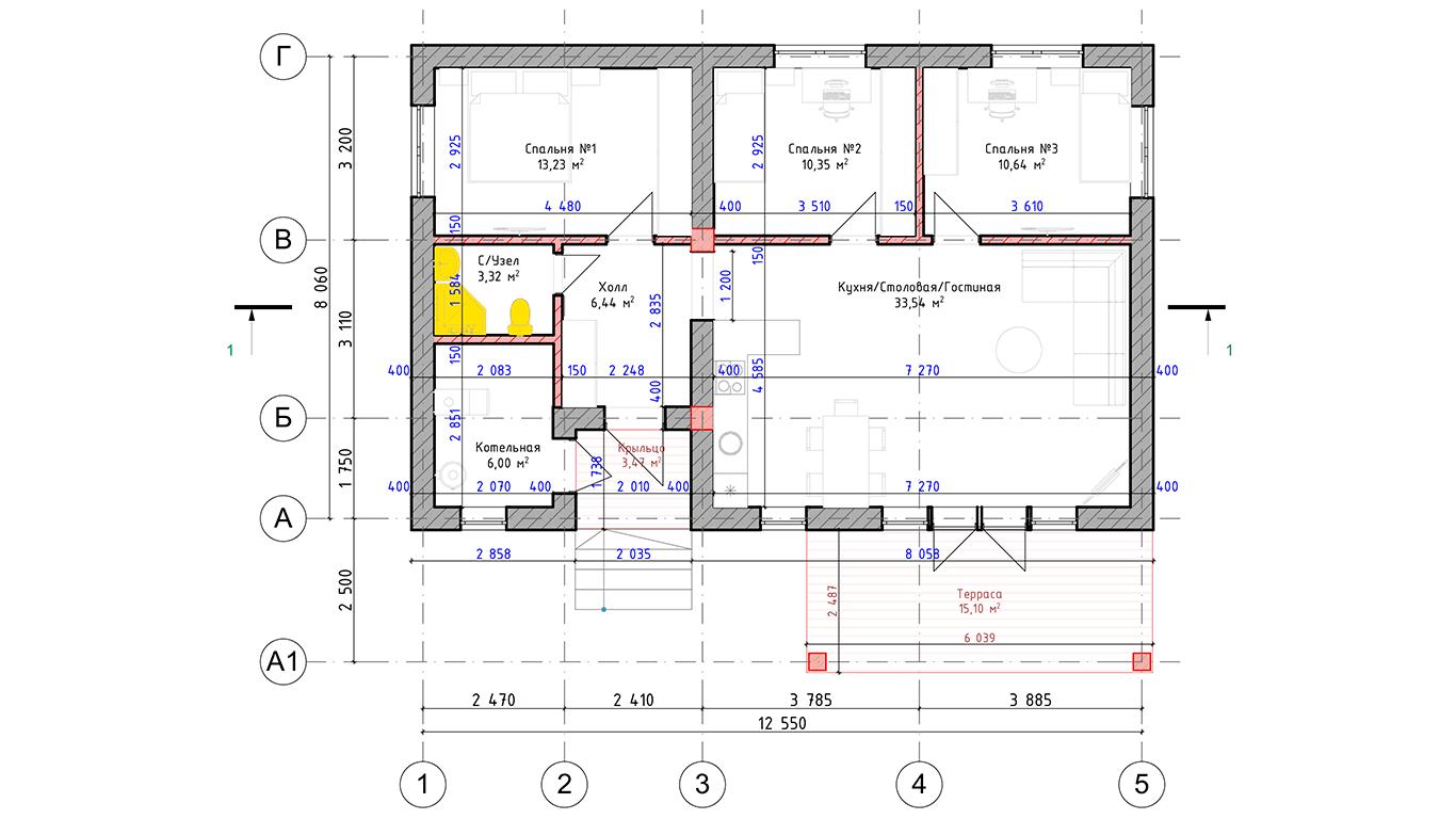 Планировка Dortmund 2.0 (Дом Дортмунд 2.0)