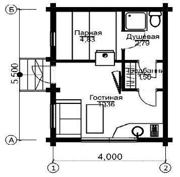 План первого этажа München BAN (Баня Мюнхен) 2