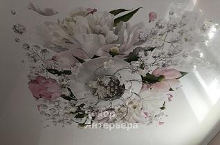 Картинка фотопечать натяжного потолка в Вашем городе по низкой цене от 750 руб м2