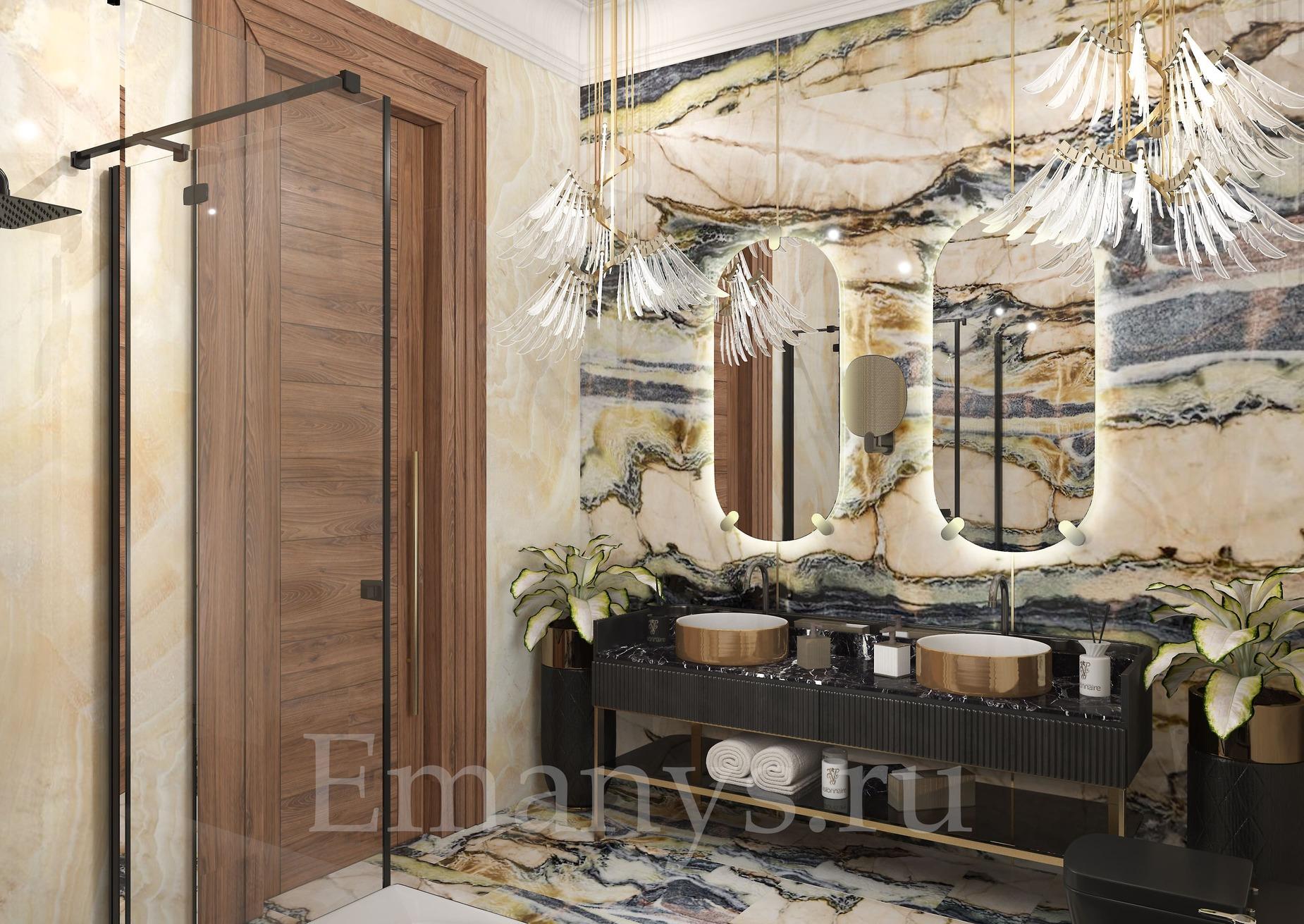 Дизайн интерьера ванная Emanys