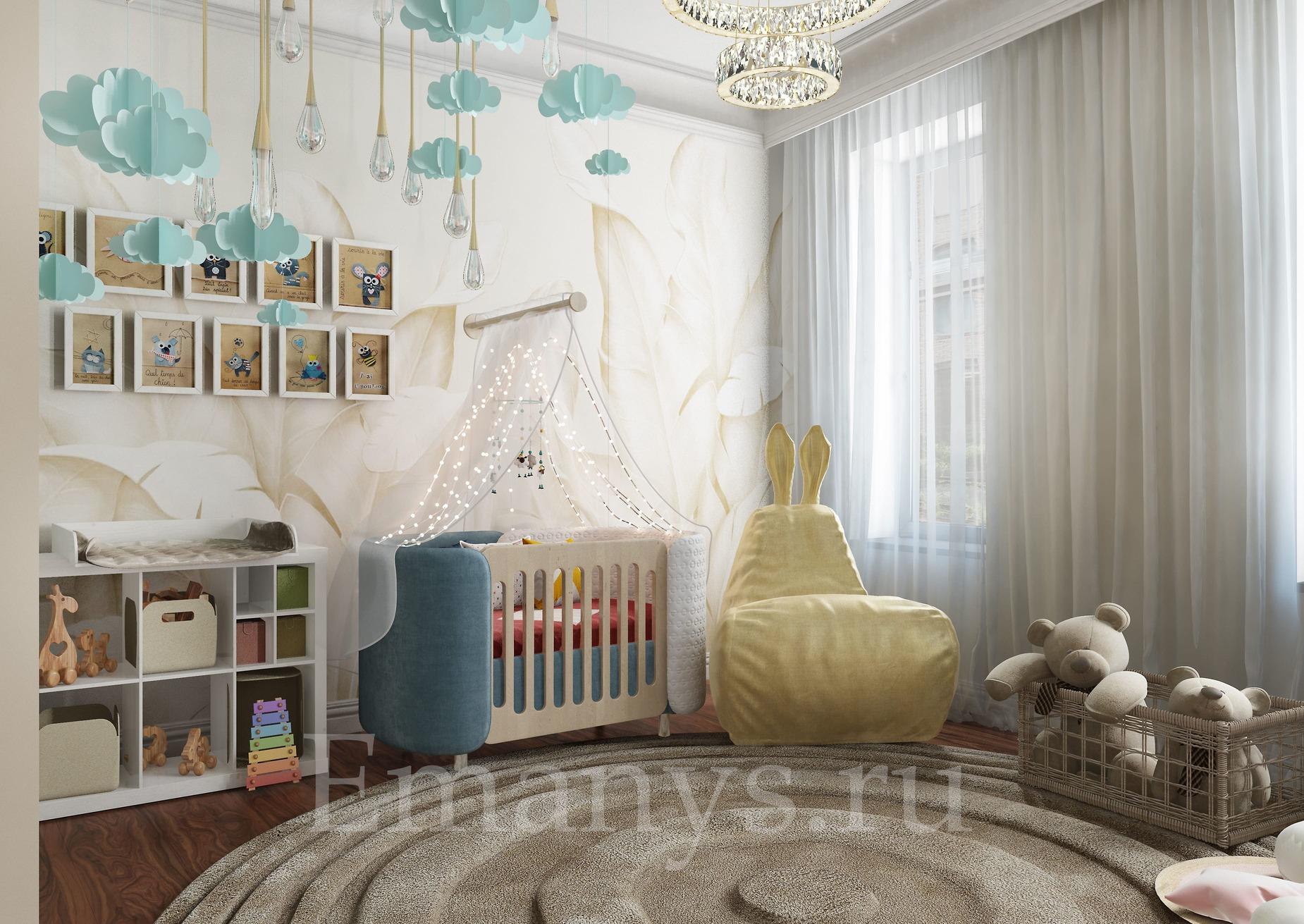 Дизайн интерьера детской Emanys