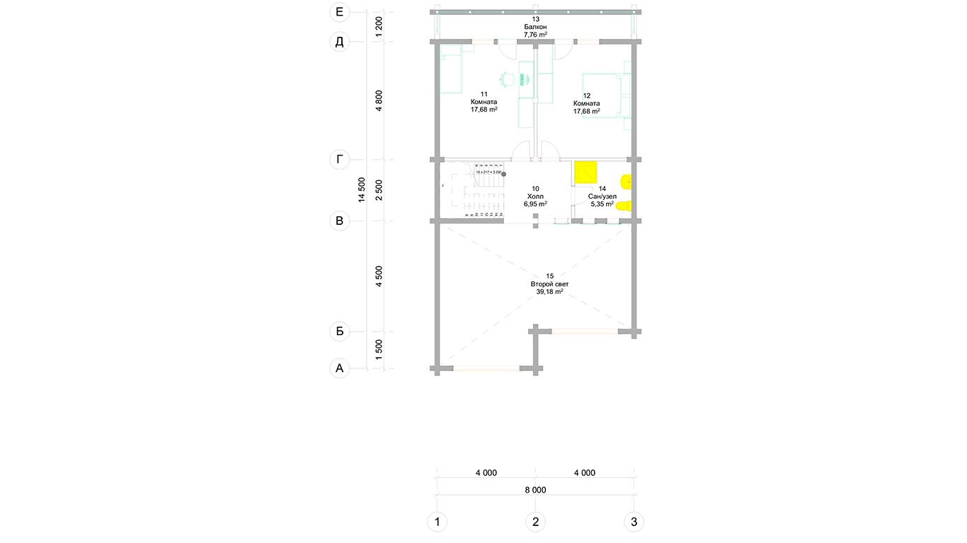 План второго этажа Trier (Дом Трир)