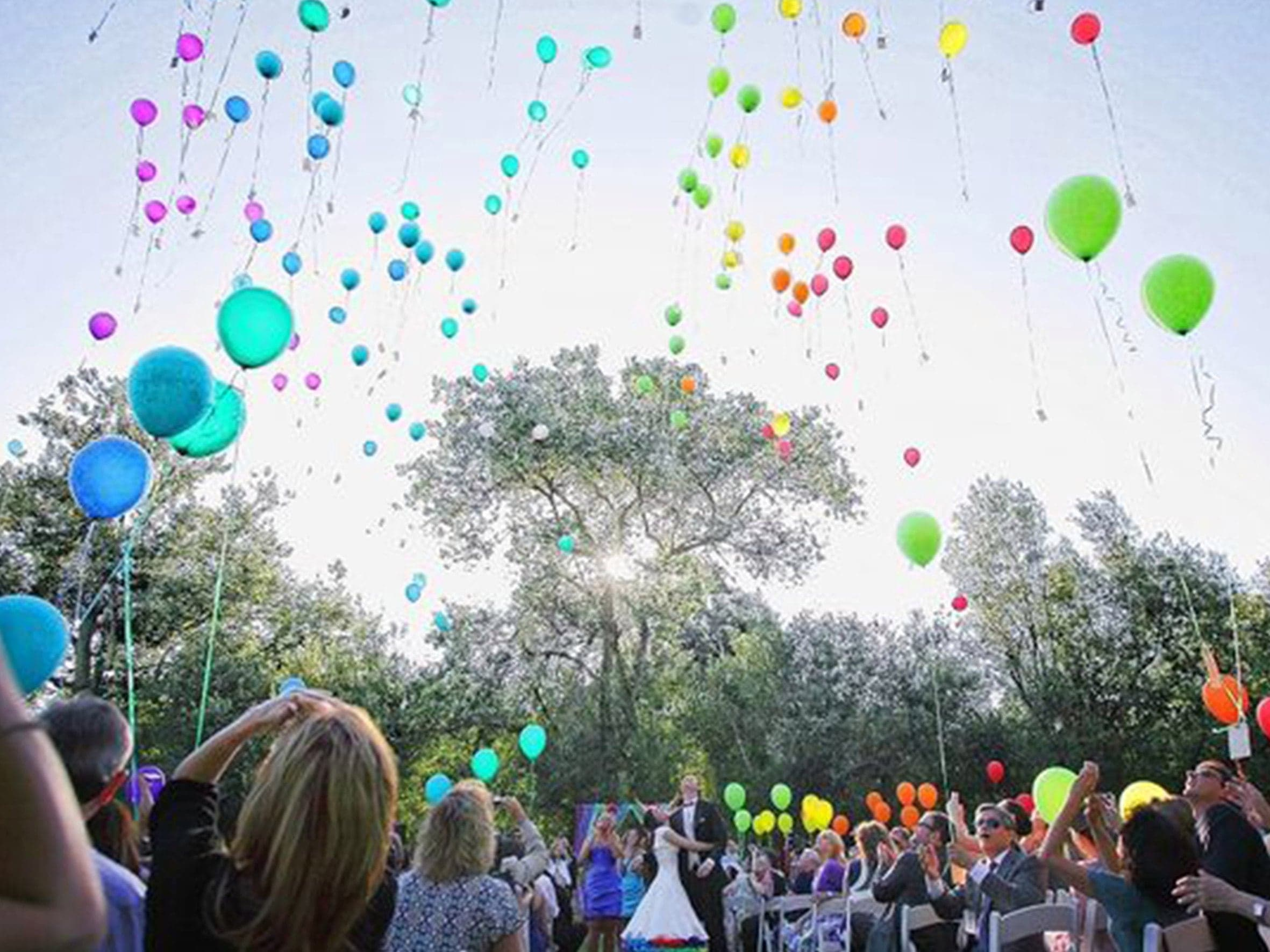 гелиевые шары на свадьбу