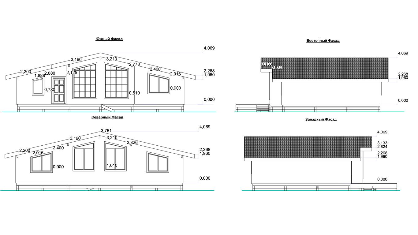 Фасады Bonn Rahmenhaus (Каркасный дом Бонн)