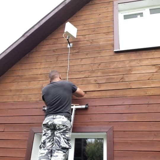 Установка интернет антенны