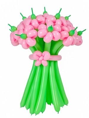 Корзина из шаров с цветами № 2