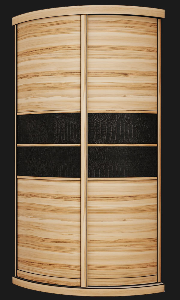 Выгнутый радиусный шкаф M-3 Сандал + Крок