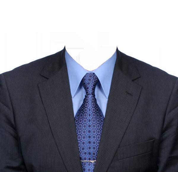синий галстук фотография на документы
