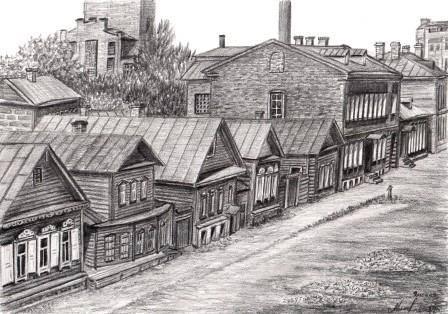 Ямская. Ныне район угол улиц Ленина и Билибина