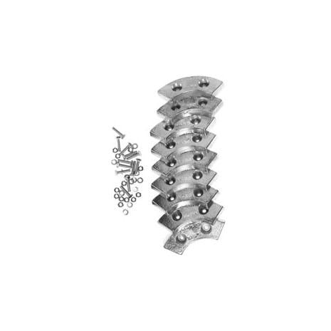 Фото 2 цинковых анодов для погружных насосов