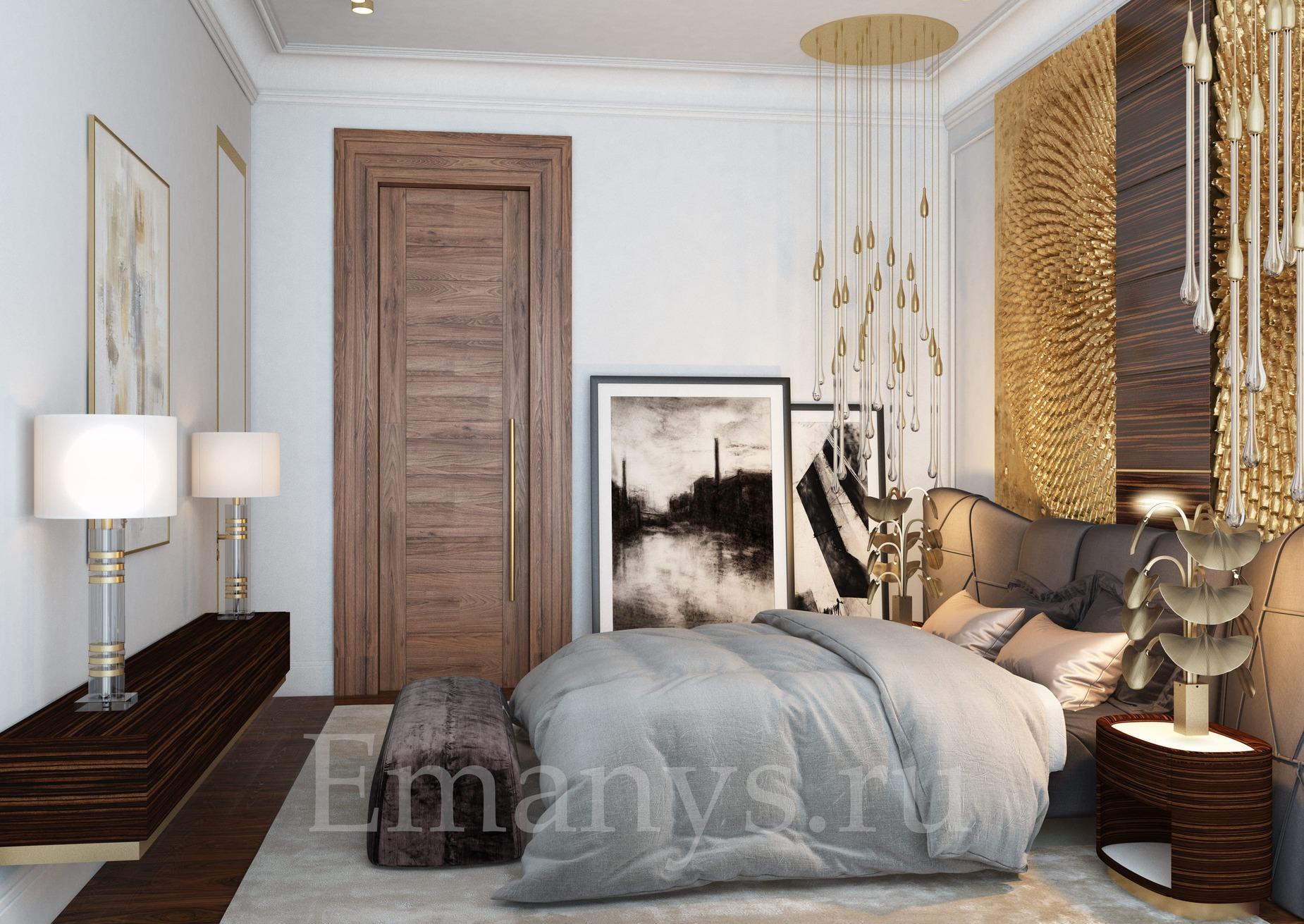 Дизайн интерьера спальни Emanys