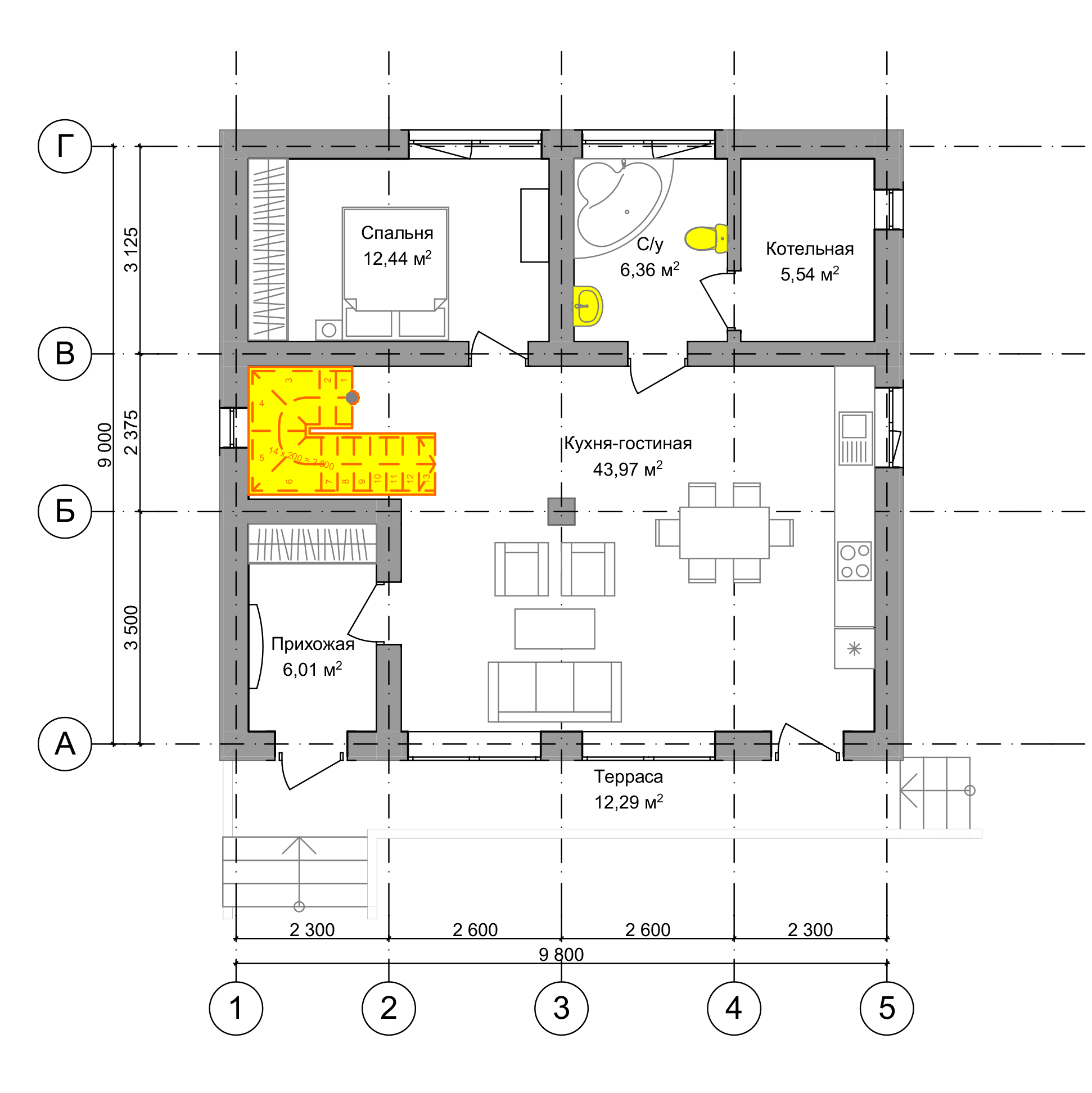 План первого этажа Frankfurt 2.0 (Дом Франкфурт)