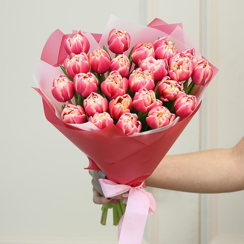 25 розовые тюльпан Columbus фото