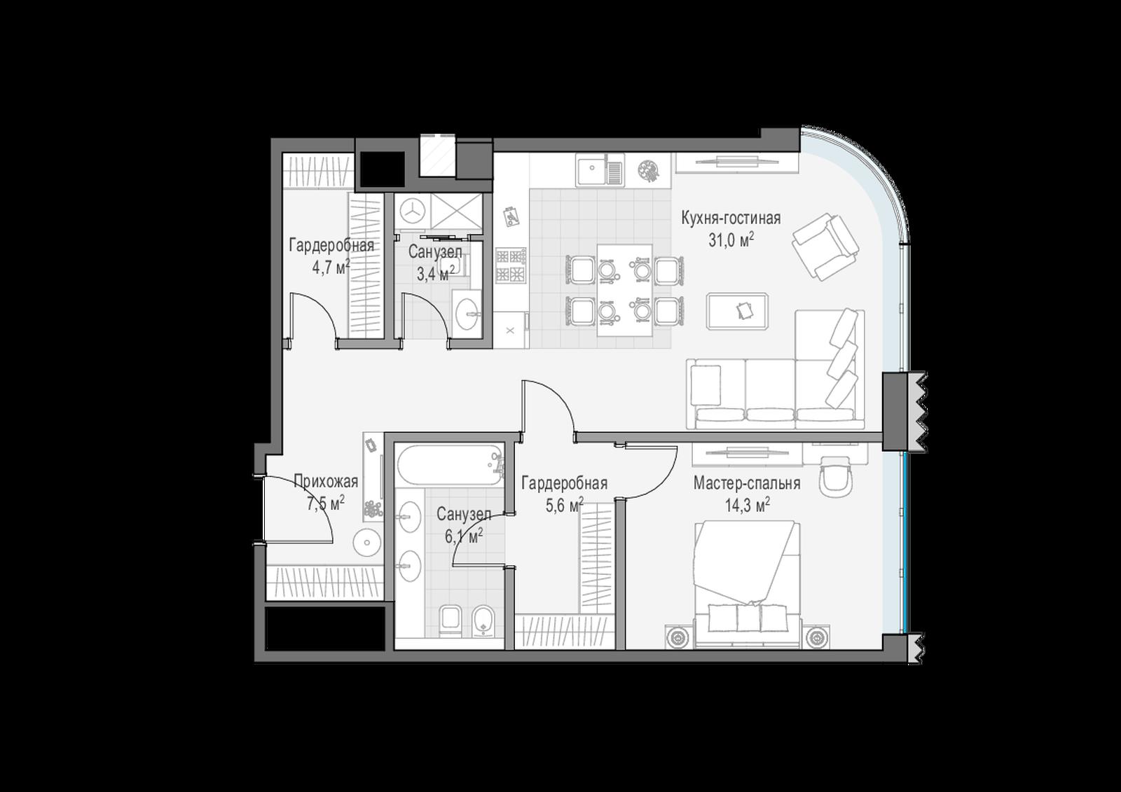 Лаврушинский планировка квартиры