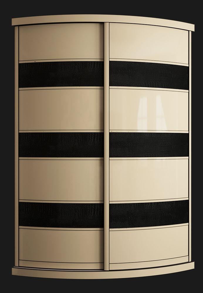 Выгнутый радиусный шкаф M-4 ваниль и крок