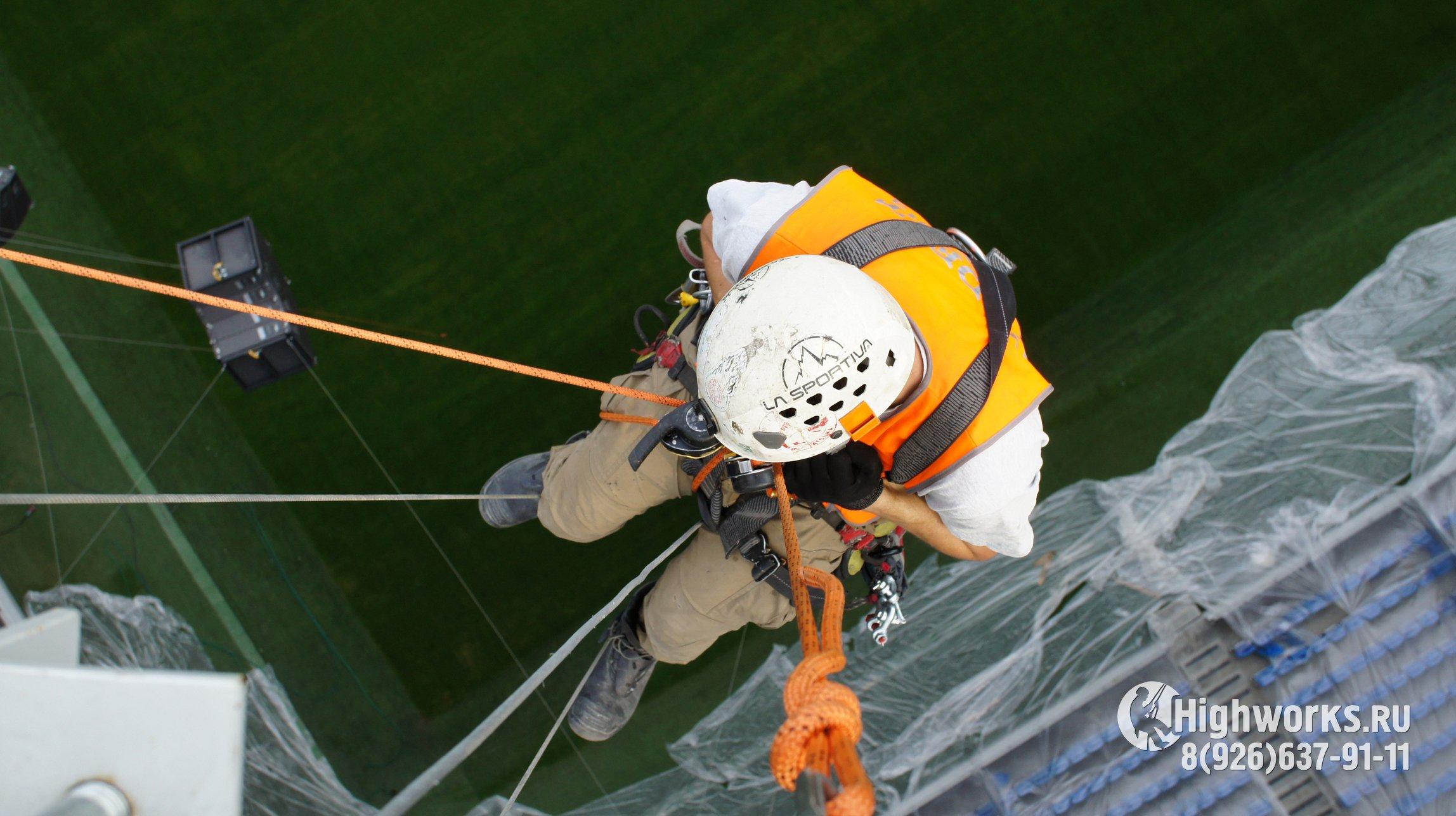 Монтажные работы промышленными альпинистами