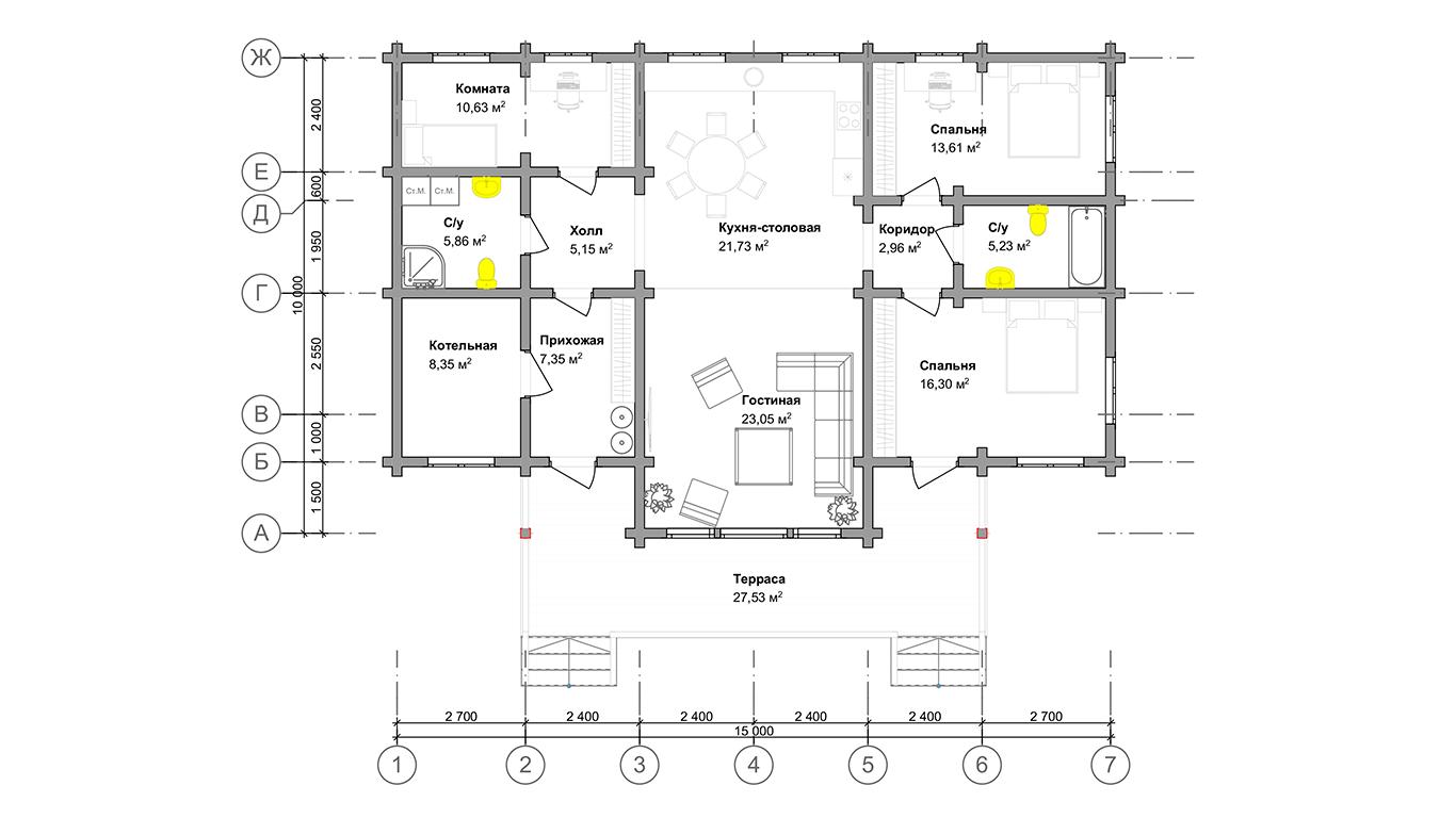 План первого этажа Oldenburg  (Дом Ольденбург)