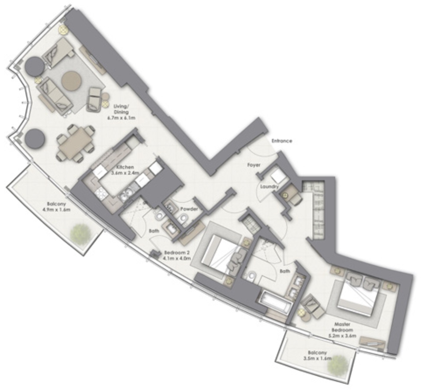 Opera Grand Apartments in Downtown Dubai by Emaar