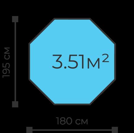 Детский игровой манеж 8-ми гранный высота 73 см, ширина 195 см, 3.51  квадратных метра доставка по России и Москве манеж-с-собой.рф